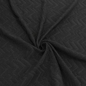 Knit Jacquard Knit Chevron Arrowhead Stretch Cotton Jacquard Knit Fabric Black on Black