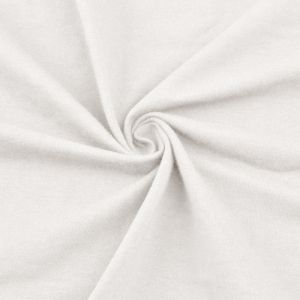 Off White Cotton Spandex Jersey Knit Fabric Combed 7oz