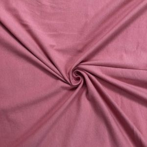 Pink Deep Cotton Spandex Jersey Knit Fabric Combed 7oz