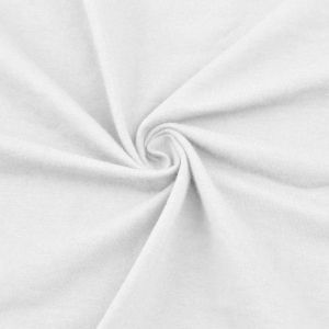 White Cotton Spandex Jersey Knit Fabric Combed 7oz