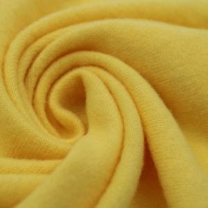 Bright Yellow Stretch Jersey with Merino-like Wool Hacci Brush by the Yard