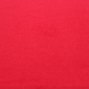 Red Stretch Jersey with Merino-like Wool Hacci Brush