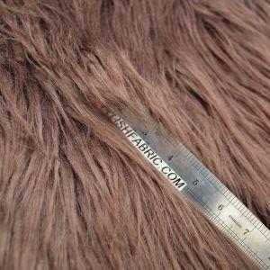 Brown Faux Fur Fabric Long Pile Mongolian