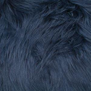 Navy Faux Fur Fabric Long Pile Mongolian