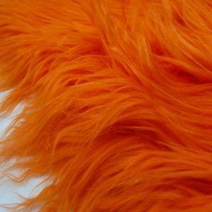 Orange Faux Fur Fabric Long Pile Mongolian by the Yard