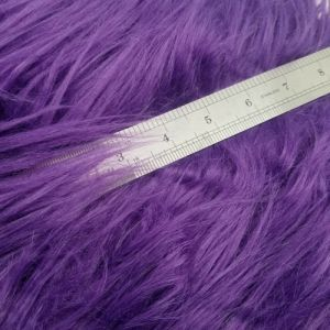 Purple Faux Fur Fabric Long Pile Mongolian by the Yard