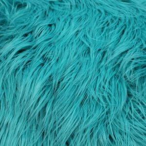 Turquoise Faux Fur Fabric Long Pile Mongolian