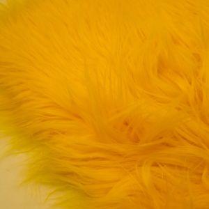 Yellow Faux Fur Fabric Long Pile Mongolian by the Yard