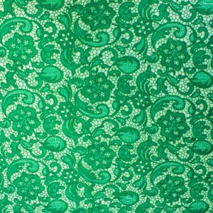 Kelly Green Venice Guipure Embroidered Lightweight Lace Fabric