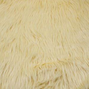 """Maize 60"""" Wide 1-2'' Long Pile Luxury Shag Fur"""