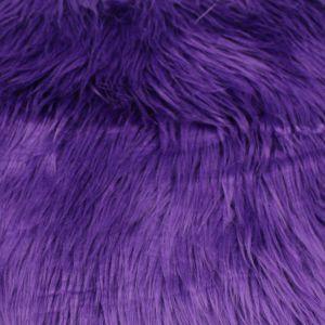 """Purple 60"""" Wide 1-2'' Long Pile Luxury Shag Fur"""