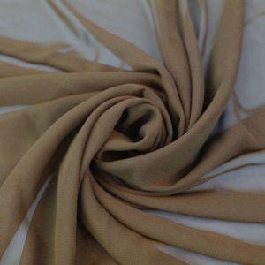 Toffee Solid Hi-Multi Chiffon Fabric