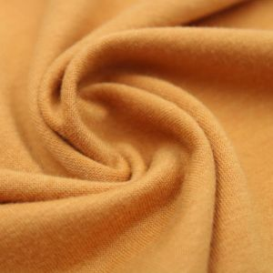 Mustard French Terry Spandex Fabric