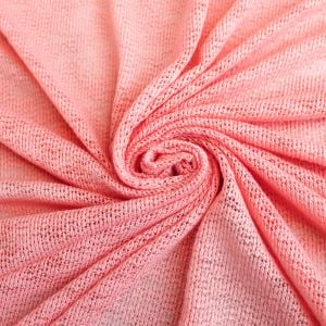 16x60'' Cut Pink Mamly Hacci Crepe Poly Slub Cloud Knit Open Sweater Knit Fabric for Newborn Photography Wraps