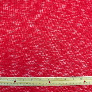 Red Hacci Crepe Poly Slub Cloud Knit Open Sweater Knit Fabric