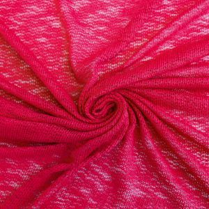 16x60'' Cut Red  Hacci Crepe Poly Slub Cloud Knit Open Sweater Knit Fabric for Newborn Photography Wraps