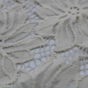 Tan  Scallop Lace Fabric By the Yard - Cecille