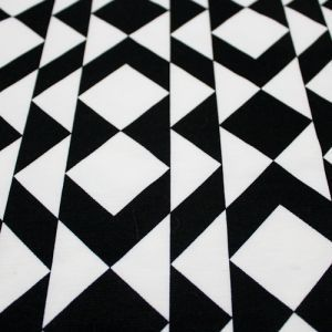 Black and White Pyramid Sweater Knit Fabric by the Yard