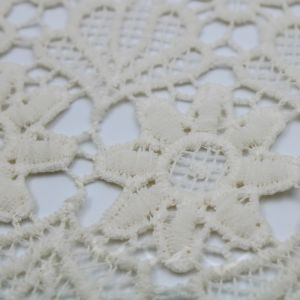 Natural Therese Pattern Chemical Lace Fabric