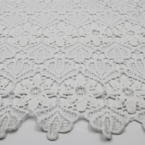 Offwhite Therese Pattern Chemical Lace Fabric