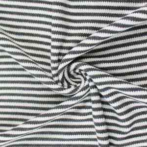 Charcoal 2 Tone Heather Gray Light Striped Rayon Spandex Thermal Fabric