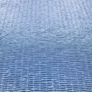Blue Silver Metallic Lightweight Crinkle Bodre Foil Fabric by the Yard