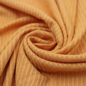 Mustard B  4x2 Thermal Ribbed Stretch Knit Fabric by the Yard