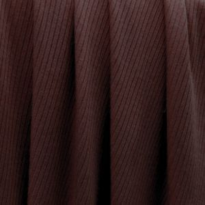 Red Brown 4x2 Thermal Ribbed Stretch Knit Fabric by the Yard