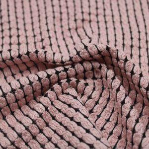 Pink Black Crochey Wheat Stitch Pattern Fabric by the Yard