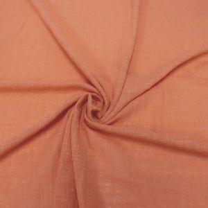 Orange Slub Cotton  Rayon Linen Gauze Fabric