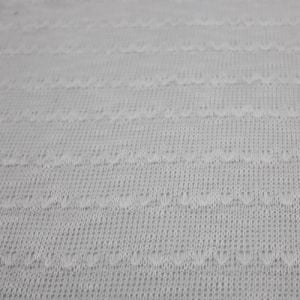 White Solid Open Knit Sweater Knit Fabric by the Yard