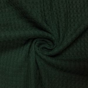 Hunter Green B Waffle Rayon Spandex Open Knit Fabric