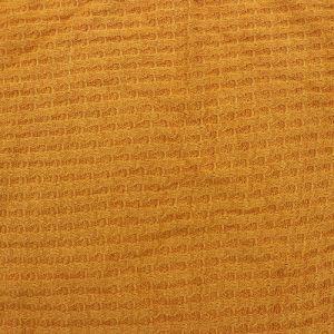 Mustard B  Waffle Rayon Spandex Open Knit Fabric by the Yard