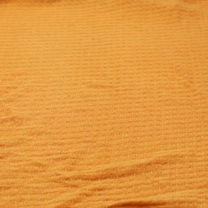 Mustard B  Waffle Rayon Spandex Open Knit Fabric by the Yard