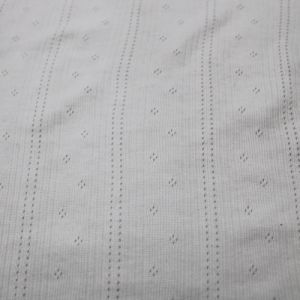 Off White Eyelet Sweater Knit Fabric by the Yard