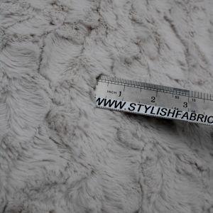 Oatmeal Faux Fur Fabric Long Pile Mongolian
