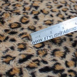 Mustard Mocha Faux Fur Fabric Long Pile Mongolian