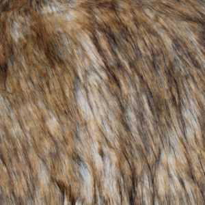 Caramel Faux Fur Fabric Long Pile Mongolian