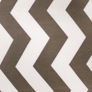 Taupe White Chevron Stretch ITY Jersey Fabric