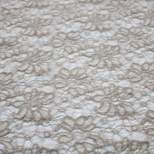 Stone Flower Lace Design Open Knit Sweater Fabric by the Yard