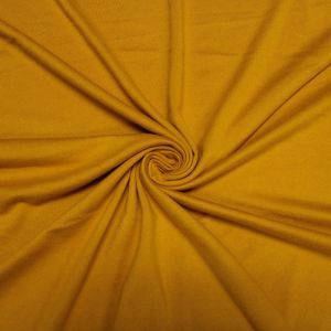 Mustard Solid Double-Sided Brushed DTY Stretch Fabric