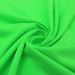 Lime Neon Solid Double-Sided Brushed DTY Stretch Fabric