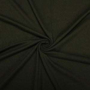 Olive Solid Double-Sided Brushed DTY Stretch Fabric