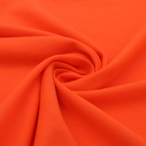 Orange Neon Solid Double-Sided Brushed DTY Stretch Fabric
