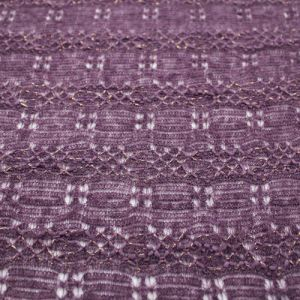 Eggplant Chevron Open Knit Sweater Fabric by the Yard