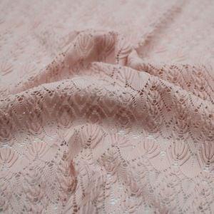 Blush Chevron Open Knit Sweater Lace Fabric