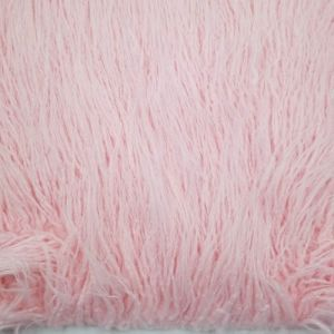 Pink Curly Long Pile For Newborn Cuddly Faux Fur Fabric by the Yard Style 6744