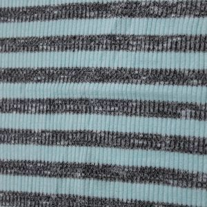 Greenmint Light Charcoal 2ToneSlub 2x2 Hacci Rib Rayon Poly Spandex Rib Knit Fabric