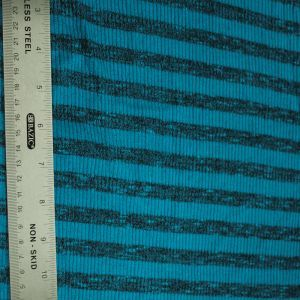 Teal Light Charcoal 2Tone Slub 2x2 Hacci Rib Rayon Poly Spandex Rib Knit Fabric