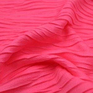 Neon Pink Wave Knit Jacquard Jersey Knit Fabric